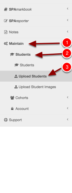 Step 3: Navigate to the Upload Students section
