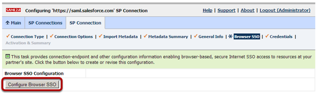 Configuring Browser SSO Configuration