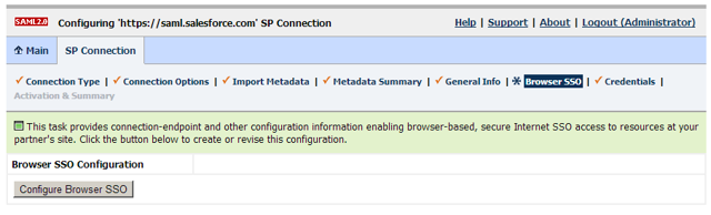 Browser SSO Configuration