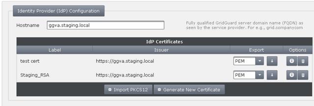 Setup GridGuard SAML URL
