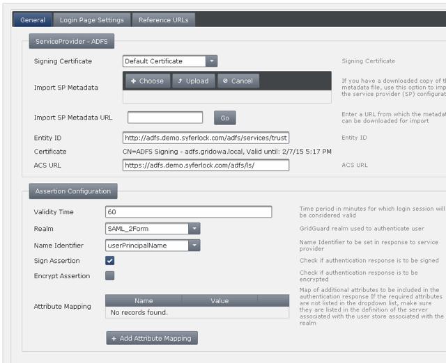 Adding ADFS as a SAML Service Provider
