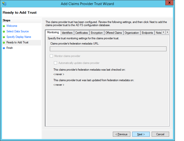 New Claims Provider Configuration Review
