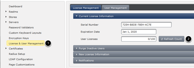 Verify New License