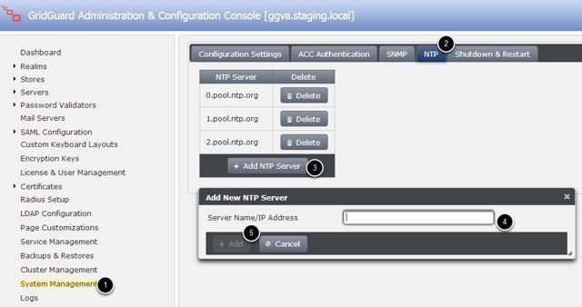 Adding a new NTP server