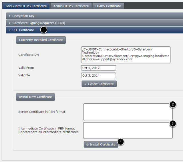 Importing the Certificate