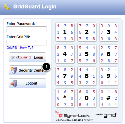 Log into Security Center