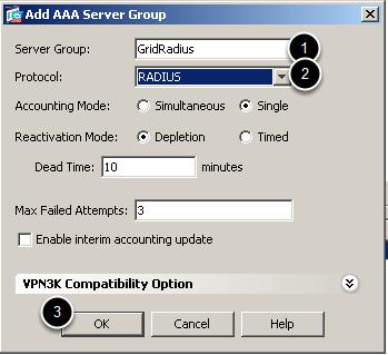 Add Radius Server Group