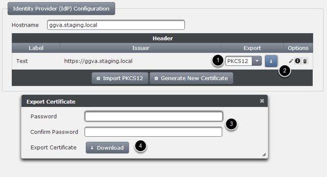 Exporting Certificate