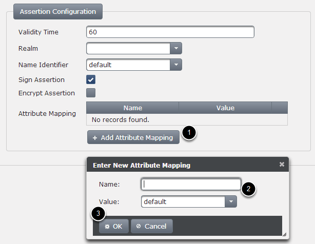 Specify Attribute name value mapping