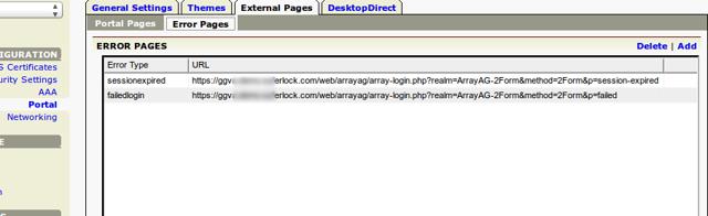 Error Page URLs