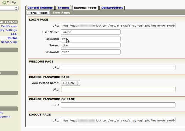 Portal Page URLs