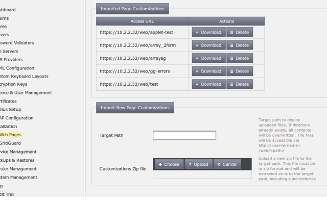 Upload Customization Template