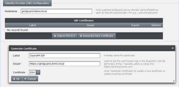 GridGuard ACC - SAML Configuration