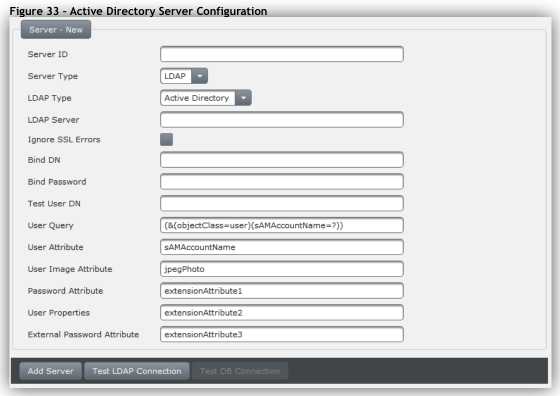 Adding a New Active Directory LDAP Server