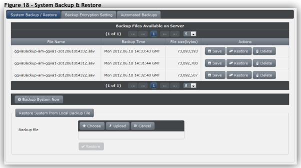 System Backup / Restore
