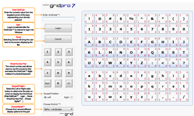 GridPro Log-on