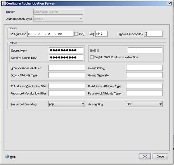 Create a RADIUS Server