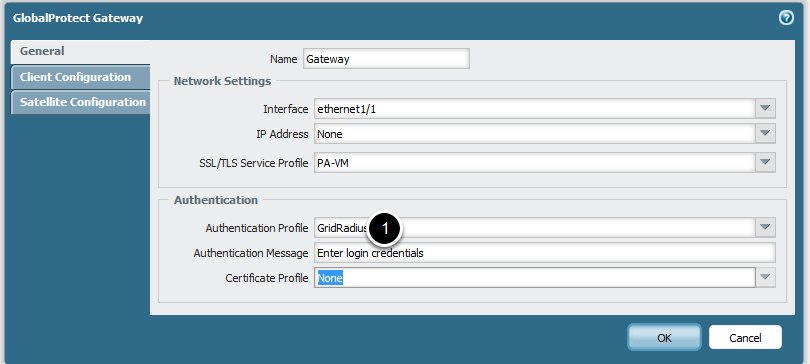 Use RADIUS Profile as Authentication Profile