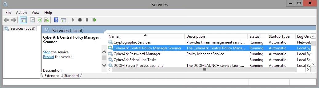 Restart the CyberArk Services – SyferLock Help Center