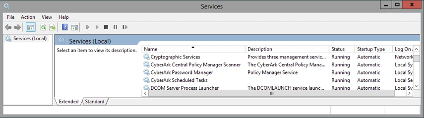 Stop the CyberArk Password Manager service