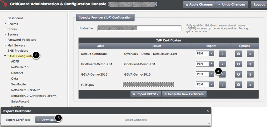 SAML Configuration - Retrieve PEM CERT