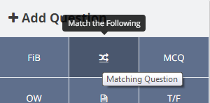 Adding a Match the Following question