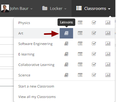Ordering lessons within a classroom