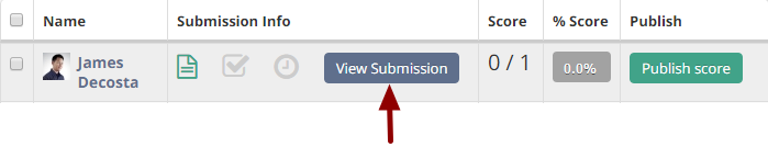Navigating through assignment submissions