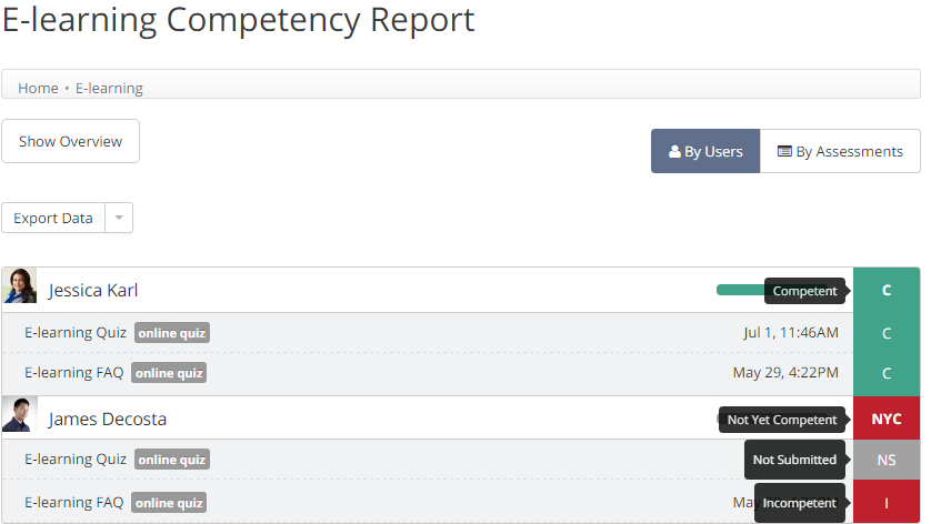 Updating competency labels