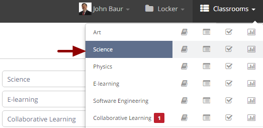 Checking users access report of a classroom
