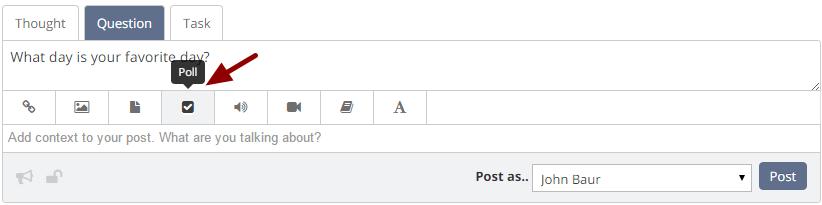 Creating a poll