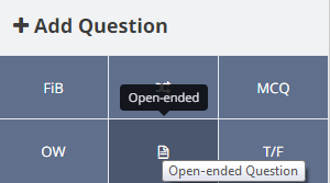 Adding an Open-ended question