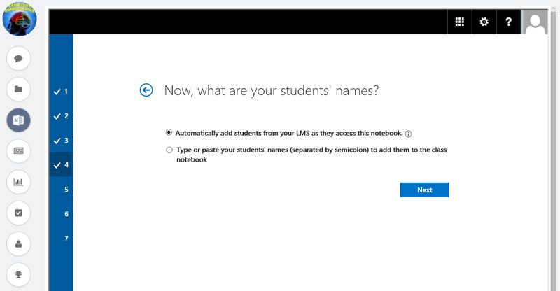 a) Automatically adding learners to OneNote notebooks