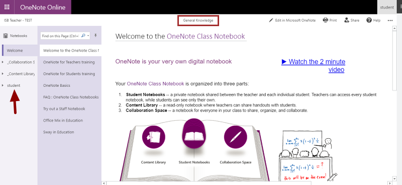 a) OneNote Online