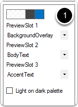 Modify the preview slot