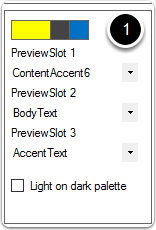 Modified preview slot