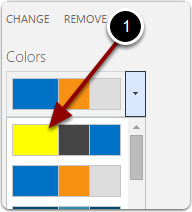 Use the custom color palette
