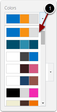 Select a color scheme