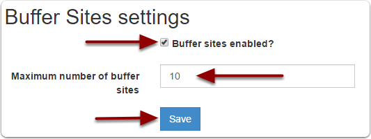 Enable buffer sites