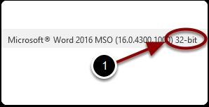 Verifying the installed version 32bit/64bit of Microsoft Word