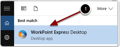 Start WorkPoint Express Desktop