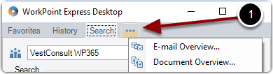 Accessing Email and document overview