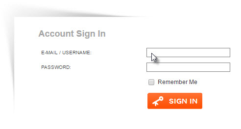 2.2  Enter the information you gave us when registering.  Normally this is your email address and password.