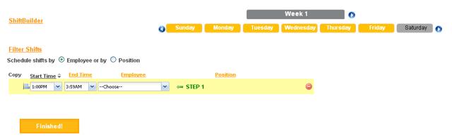 Create Schedule Template