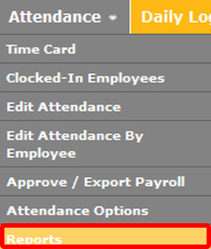 Run an attendance report.