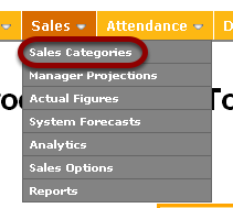 Go to Sales Categories