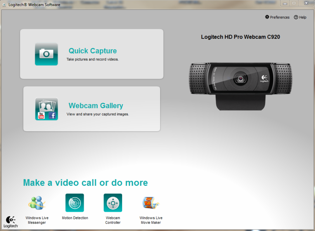 Supported Logitech web cameras