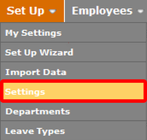 "Go to the ""Settings"" page."
