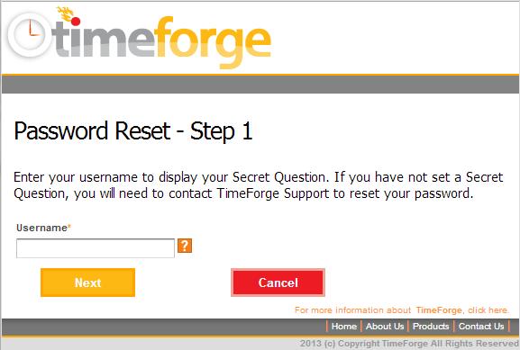 Password Reset - Step 1