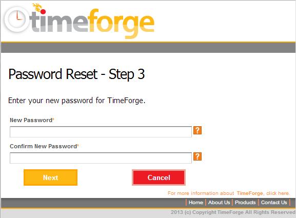 Password Reset - Step 3